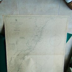 Antigüedades: EAST COAST OF BRAZIL - RIO DOCE TO CAPE ST. THOME - SOUTH AMERICA -CARTA MARINA BRASIL - 1946.. Lote 36405730