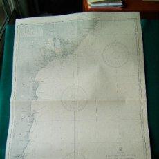 Antigüedades: EAST COAST OF BRAZIL - FROM BAIA TO ILHEUS ANCHORAGE - SOUTH AMERICA - 106X76 CM. 1861 - 1944. . Lote 36405906