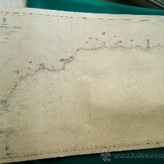 Antigüedades: GIBRALTAR TO ADRA - MEDITERRANEAN - SPAIN -(ESPAÑA) -SOUTH EAST COAST - 71X104 CM - 1890 -1945 . Lote 36429652