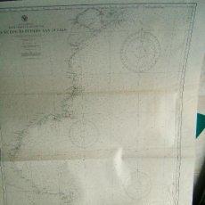 Antigüedades: GOLFO NUEVO TO PUERTO SAN JULIAN - SOUTH AMERICA - EAST COAST OF ARGENTINA - CARTA MARINA - 1946. . Lote 36430427