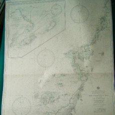 Antigüedades: HAWKE BAY TO STE. GENEVIEVE BAY INCLUDING ST. JOHN BAY- NEWFOUNDLAND -CARTA MARINA -108X74 CM - 1946. Lote 36430977