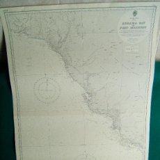 Antigüedades: KEREMA BAY TO PORT MORESBY - PACIFIC OCEAN - PAPUA Y MAR DEL CORAL - CARTA MARINA 103X70 CM. - 1969.. Lote 36431267