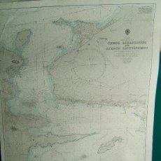 Antigüedades: ORMOS KERATSINIOU AND STENON NAVSTATHMOU - GREECE (GRECIA) - SARONIKOS KOLPOS -103X71CM. - 1974. . Lote 36441200