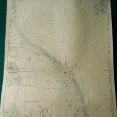Antigüedades: ORTONA TO THE RIVER PO, COAST OF ITALY FROM. INCLUDING THE…- CARTA MARINA 102X70 CM - 1881-1947. . Lote 36441567