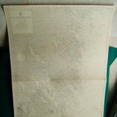 Antigüedades: ÖSTERSJÖN - BALTIC SEA - SWEDISH COAST (SUECIA) - STORA ALÖ - IDÖ - CARTA MARINA -111X75 CM. - 1959.. Lote 36441712