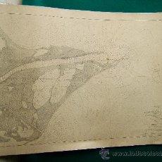 Antigüedades: PLANO DE LAS GOLAS DEL RIO EBRO LEVANTADO EN 1880 - PARDO FIGUEROA - 101X65 CM - 1883 - 1ª EDICION.. Lote 36442472