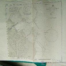 Antigüedades: PORT OF VERACRUZ - NORTH AMERICA - EAST COAST OF MEXICO - MEJICO - CARTA MARINA - 77X107 CM - 1947.. Lote 36442820