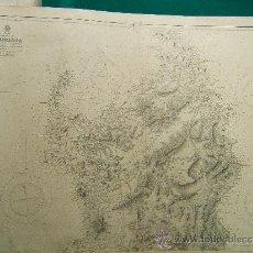 Antigüedades: SARDINIA - (NORTHERN PORTION) - (CERDEÑA) - MEDITERRANEAN - CARTA MARINA 71X104 CM - 1874 -1945. . Lote 36443036