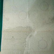 Antigüedades: YUCATAN CHANNEL AND APPROACHES - NORTH AMERICA - CARTA MARINA - 104X81 CM. - 1886 -1947. . Lote 36443414