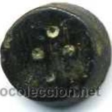 Antigüedades: PONDERAL DE BRONCE CON 4 PUNTOS, PESA 1,7 G. FORMA TRONCO-CONICA. Lote 36497364