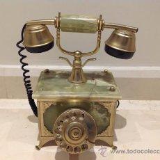 Teléfonos: ANTIGUO TELÉFONO DE MÁRMOL ONIX Y BRONCE. Lote 36563280