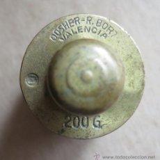 Antigüedades: PESA DE 200 GRAMOS FABRICANTE DOSHER- R. BORT DE VALENCIA. Lote 36573850