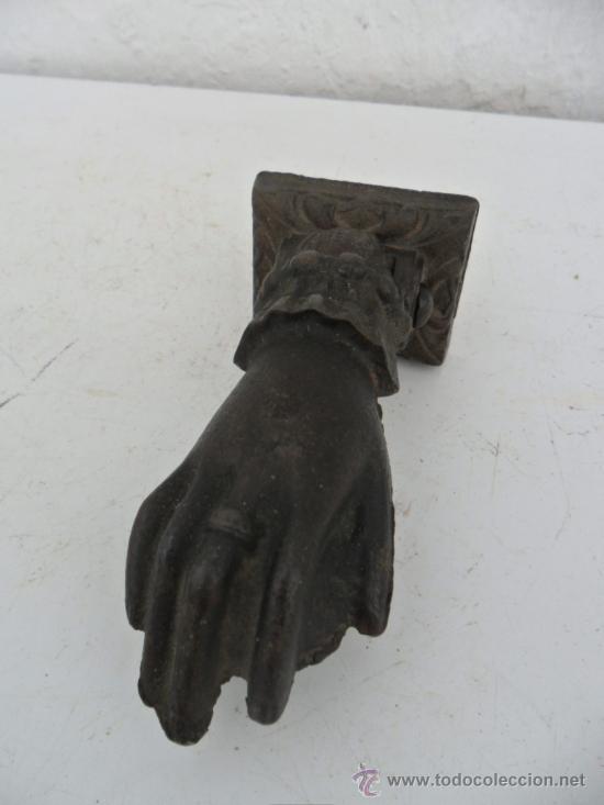 LLAMADOR DE HIERRO ANTIGUO (Antigüedades - Técnicas - Cerrajería y Forja - Llamadores Antiguos)
