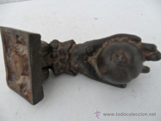 Antigüedades: llamador de hierro antiguo - Foto 2 - 36634271