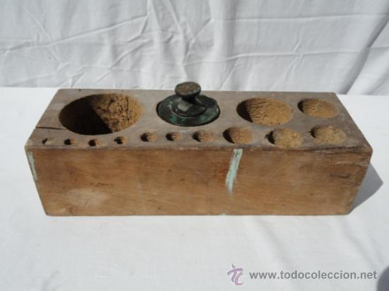 CAJA PARA PESOS. (Antigüedades - Técnicas - Medidas de Peso Antiguas - Otras)