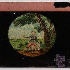 Antigüedades: PLACA DE VIDRIO / DIAPOSITIVA PARA LINTERNA MAGICA (15X4,5CM APROX). Lote 36757200