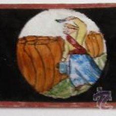 Antigüedades: PLACA DE VIDRIO / DIAPOSITIVA PARA LINTERNA MAGICA (18X4,5CM APROX). Lote 36757546