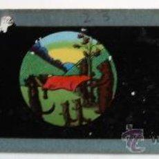 Antigüedades: PLACA DE VIDRIO / DIAPOSITIVA PARA LINTERNA MAGICA (15X4,5CM APROX). Lote 36757570