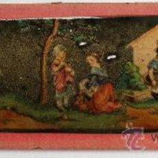 Antigüedades: PLACA DE VIDRIO / DIAPOSITIVA PARA LINTERNA MAGICA (18X5CM APROX). Lote 36757626