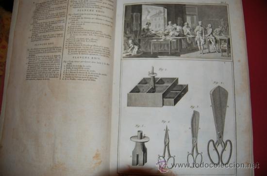 INTERESANTE ENCICLOPEDIA DIDEROT -VESTIMENTA-SIGLO XVIII (Antigüedades - Técnicas - Varios)