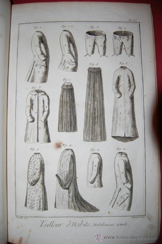 Antigüedades: INTERESANTE ENCICLOPEDIA DIDEROT -vestimenta-siglo XVIII - Foto 3 - 36781044