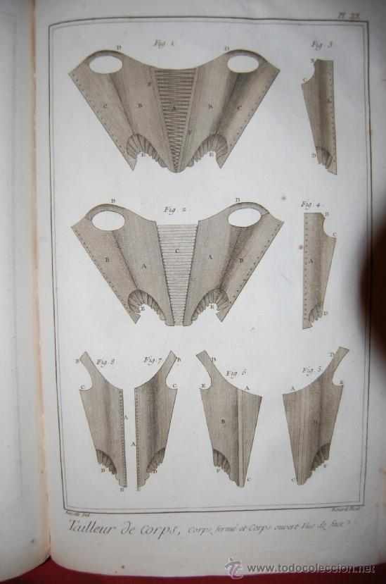 Antigüedades: INTERESANTE ENCICLOPEDIA DIDEROT -vestimenta-siglo XVIII - Foto 5 - 36781044