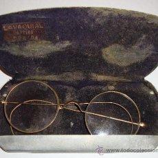 Antigüedades: (G) ANTIGUAS GAFAS TIPO QUEVEDO CON FUNDA. Lote 36825829