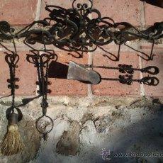 Antigüedades: ESPETERA DE COCINA O CHIMENEA, FORJA. Lote 36903078