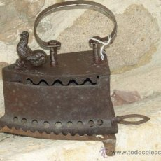 Antigüedades: PLANCHA HIERRO FUNDIDO .C 1900. PORTUGAL. TRESPIES HIERRO.. Lote 36908616