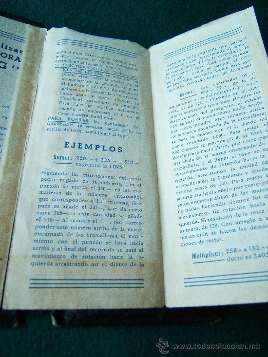 Antigüedades: CALCULADORA MANUAL OFLING - S. BUZZANCA TBS - ABACO - CON MANUAL -15X6X0,50 CM - FINALES SIGLO XIX ? - Foto 7 - 36916475