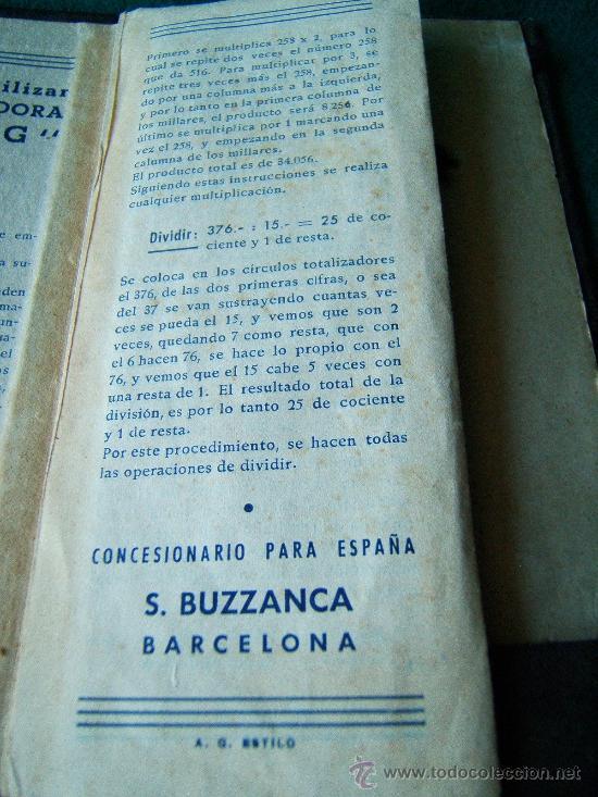 Antigüedades: CALCULADORA MANUAL OFLING - S. BUZZANCA TBS - ABACO - CON MANUAL -15X6X0,50 CM - FINALES SIGLO XIX ? - Foto 8 - 36916475