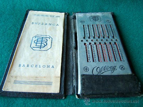 Antigüedades: CALCULADORA MANUAL OFLING - S. BUZZANCA TBS - ABACO - CON MANUAL -15X6X0,50 CM - FINALES SIGLO XIX ? - Foto 9 - 36916475