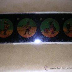 Antigüedades: PRECINE - CRISTAL DE LINTERNA MAGICA 24X8 CM. . Lote 36924531