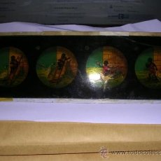 Antigüedades: PRECINE - CRISTAL DE LINTERNA MAGICA 24X8 CM. ROTURA EN UNA PUNTA PARTE SUPERIOR DERECHA . Lote 36924601