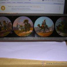 Antigüedades: PRECINE - CRISTAL DE LINTERNA MAGICA 30X9,5 CM. . Lote 36937977