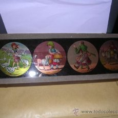 Antigüedades: PRECINE - CRISTAL DE LINTERNA MAGICA 30X9,5 CM. . Lote 36938001