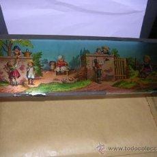 Antigüedades: PRECINE - CRISTAL DE LINTERNA MAGICA 30X9,5 CM. . Lote 36938029