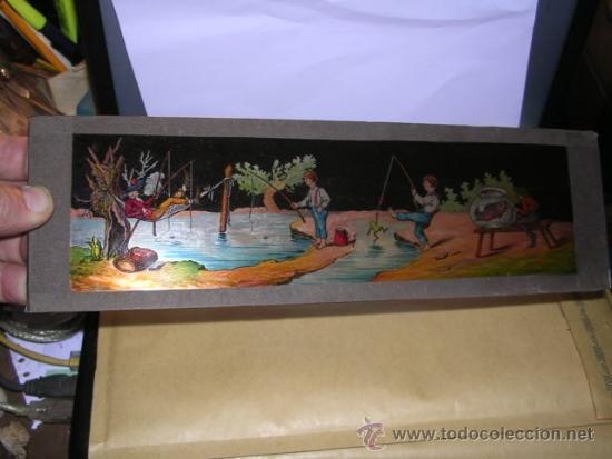 PRECINE - CRISTAL DE LINTERNA MAGICA 30X9,5 CM. (Antigüedades - Técnicas - Aparatos de Cine Antiguo - Linternas Mágicas Antiguas)