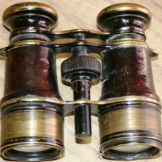 Antigüedades: MUY CUIDADO PRISMATICO EN CUERO Y BRONCE FUNCIONAMIENTO PERFECTO. Lote 36940085