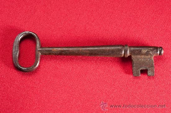 LLAVE DE HIERRO, SIGLO XIX (Antigüedades - Técnicas - Cerrajería y Forja - Llaves Antiguas)