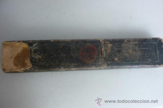 Antigüedades: ANTIGUA NAVAJA DE AFEITAR SOLINGEN CON CAJA ORIGINAL - Foto 9 - 37003944