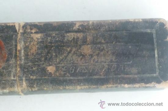 Antigüedades: ANTIGUA NAVAJA DE AFEITAR SOLINGEN CON CAJA ORIGINAL - Foto 8 - 37003944