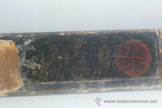 Antigüedades: ANTIGUA NAVAJA DE AFEITAR SOLINGEN CON CAJA ORIGINAL - Foto 7 - 37003944