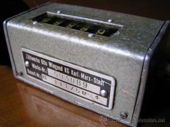Antigüedades: ANTIGUO CONTADOR MECANICO DE 5 DIGITOS - DE METAL - NO FUNCIONA - - Foto 8 - 37000117
