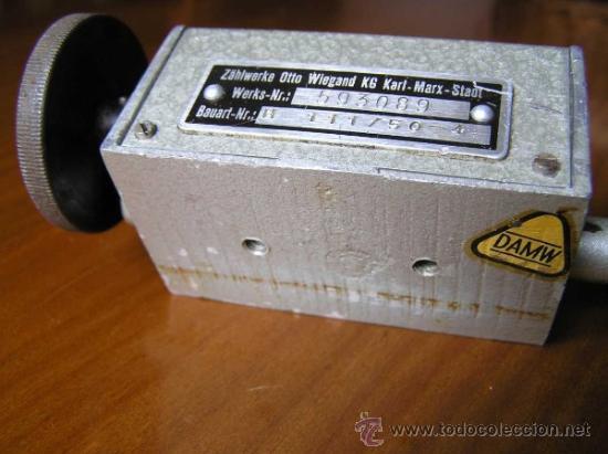 Antigüedades: ANTIGUO CONTADOR MECANICO DE 5 DIGITOS - DE METAL - NO FUNCIONA - - Foto 9 - 37000117