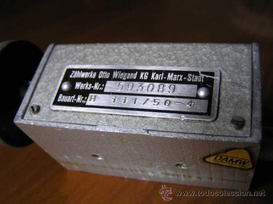 Antigüedades: ANTIGUO CONTADOR MECANICO DE 5 DIGITOS - DE METAL - NO FUNCIONA - - Foto 10 - 37000117