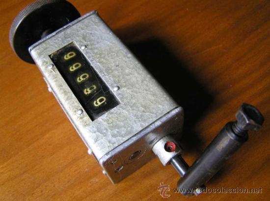 Antigüedades: ANTIGUO CONTADOR MECANICO DE 5 DIGITOS - DE METAL - NO FUNCIONA - - Foto 5 - 37000117