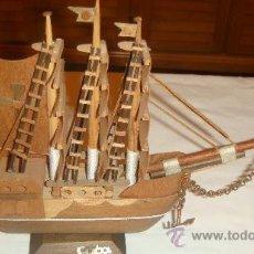 Antigüedades: ANTIGUO BARCO DE MADERA - MARCA CUBA. Lote 37043757