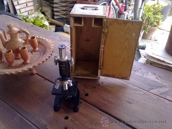 MICROSCOPIO ANTIGUO (Antigüedades - Técnicas - Instrumentos Ópticos - Microscopios Antiguos)