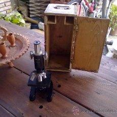 Antigüedades: MICROSCOPIO ANTIGUO. Lote 37050357